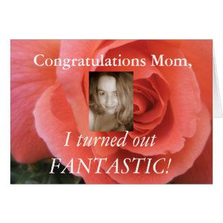 Cartão engraçado do dia das mães - adicione sua