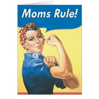 Cartão engraçado do dia das mães da regra das mães