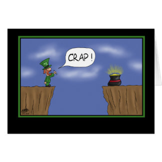 Cartão engraçado do Dia de São Patrício: Assim fim
