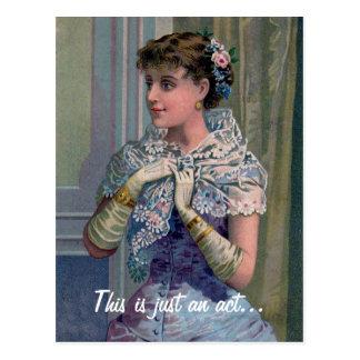 Cartão engraçado do dia dos namorados da mulher do cartoes postais