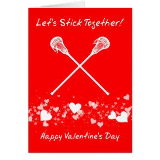 Cartão engraçado do dia dos namorados do Lacrosse,
