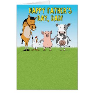 Cartão engraçado do dia dos pais: Aumentado em um