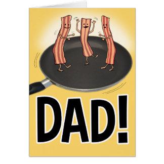 Cartão engraçado do dia dos pais do bacon