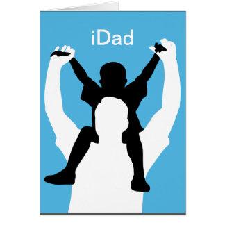 cartão engraçado do dia dos pais do iDad