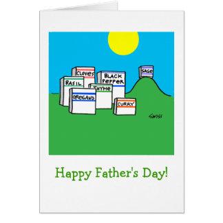 Cartão engraçado do dia dos pais do pai do