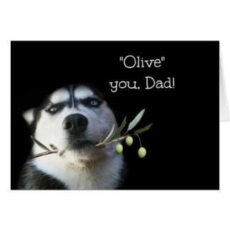Cartão engraçado do dia dos pais do rouco eu te