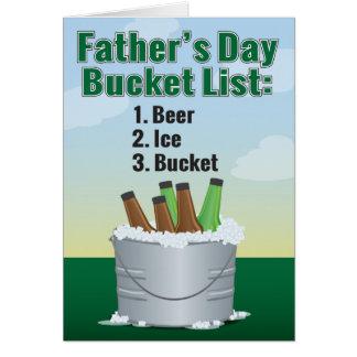 Cartão engraçado do dia dos pais - lista do balde