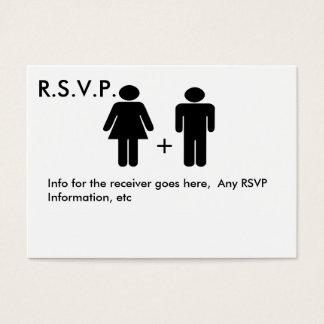 Cartão engraçado do diagrama RSVP do casal