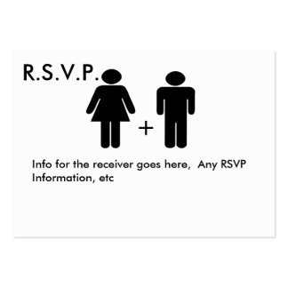 Cartão engraçado do diagrama RSVP do casal Cartão De Visita Grande