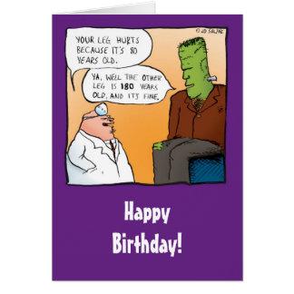 Cartão engraçado do doutor aniversário de