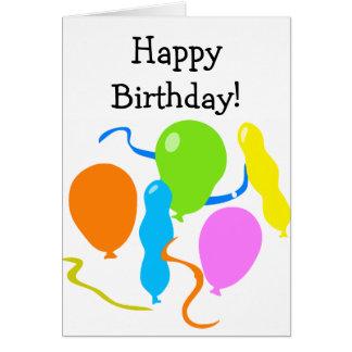 Cartão engraçado do feliz aniversario com balões