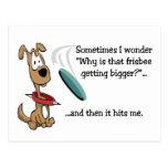 Cartão engraçado do Frisbee Cartões Postais