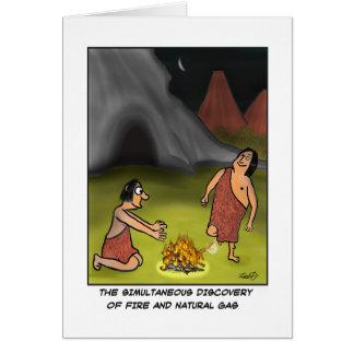Cartão engraçado do homem das cavernas
