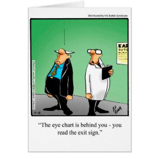 Cartão engraçado do humor da carta de olho