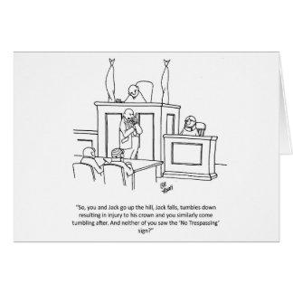 Cartão engraçado do humor do advogado