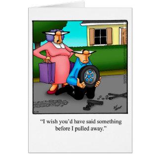 Cartão engraçado do humor do aniversário para ele