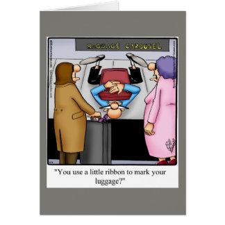 Cartão engraçado do humor do bon voyage