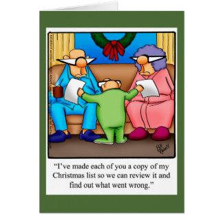 Cartão engraçado do humor do Natal