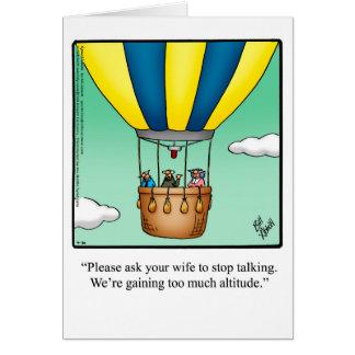 Cartão engraçado do mês da história da aviação