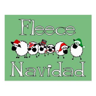 Cartão engraçado do Natal de Navidad do velo