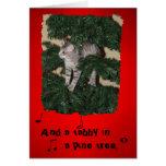 Cartão engraçado do Natal do gato
