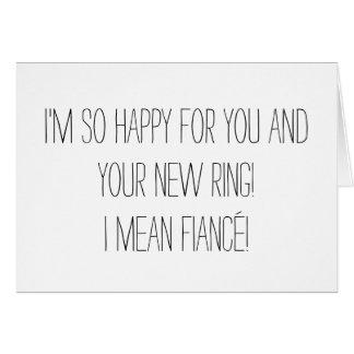 Cartão engraçado do noivado