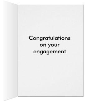 Cartão engraçado do noivado do vintage