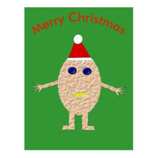 Cartão engraçado do ovo do Natal