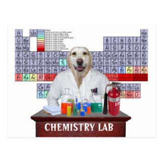 Cartão engraçado do professor da química com