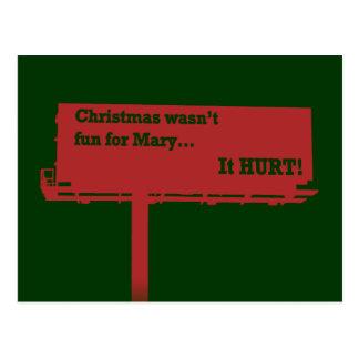 Cartão engraçado do quadro de avisos do Natal