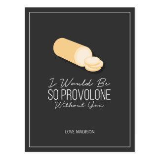 Cartão engraçado do queijo do amor dos namorados