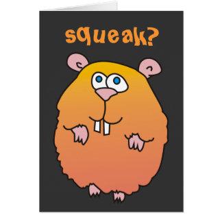 Cartão engraçado do rangido do hamster dos