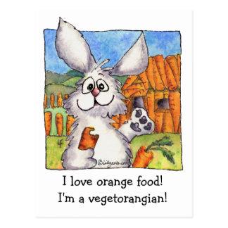 Cartão engraçado do vegan do coelho de