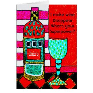 Cartão engraçado do vinho, eu faço o vinho