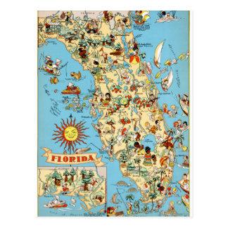 Cartão engraçado do vintage de Florida