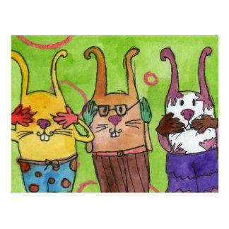 Cartão engraçado dos coelhos