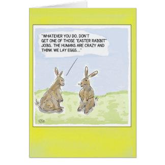 Cartão Cartão engraçado dos coelhos da páscoa dos