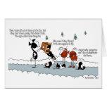 Cartão engraçado dos desenhos animados do inverno