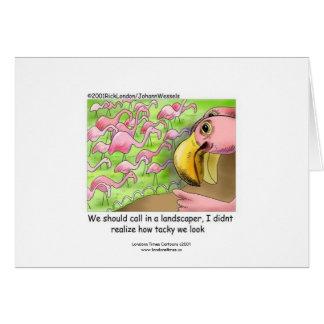 Cartão engraçado dos flamingos cor-de-rosa