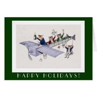 Cartão engraçado dos gatos boas festas - arte do