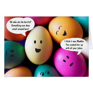 Cartão engraçado dos ovos da páscoa