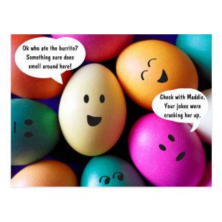 Cartão engraçado dos ovos da páscoa cartão postal