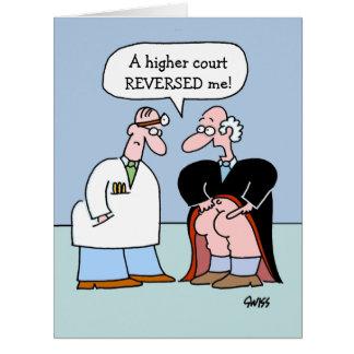 Cartão engraçado dos parabéns do advogado grande