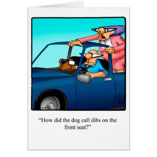 Cartão engraçado dos parabéns do proprietário do