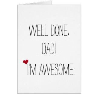 Cartão | engraçado impressionante do dia dos pais