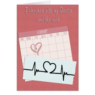 Cartão Engraçado namorados meu v2 do doutor Dizer…