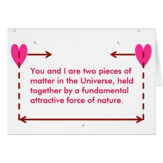 cartão engraçado nerdy dos namorados da atração