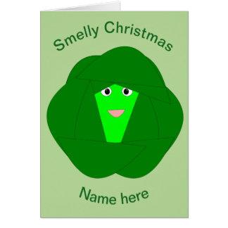 Cartão engraçado Smelly da couve de Bruxelas do