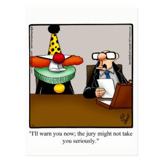 Cartão engraçado Spectickles do humor do advogado
