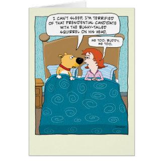 Cartão Engraçado terrificado do aniversário do trunfo